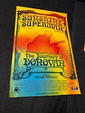 RARE Sunshine Superman Donovan Poster Psychedelic Signed From Leitch Estate