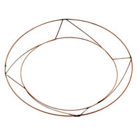 Raised Wire Wreath Frames - Christmas Wreaths 10 & 12 inch Each, Pk of 10 or 20