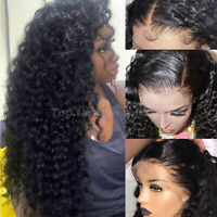Glueless Curly Wave Full Lace Wigs Virgin Indian Human Hair 360 Wig Pre Plucked