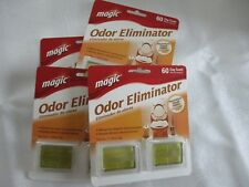 4 Pack Magic Odor Eliminator 60 Day Scent Air Freshener Stick On