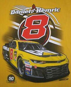 Daniel Hemric Nascar Hendricks Napa Racing Double Sided T-Shirt Size 2XL XXL