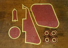 Pickguard, Back Plates,Truss Rod Cover,Knobs Fits Gibson Les Paul. Red/Gold JAT