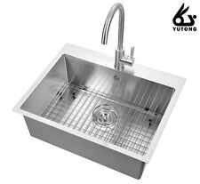 """Yutong 25"""" x 20"""" Top-Mount/Drop in Stainless Steel Single Bowl Kitchen Sink…"""