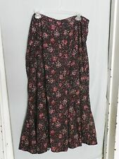 C.J. Banks Black Pink White Floral Long Skirt 20W Modest No Slit Pre-owned Nice!