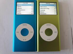 iPod Nano 2nd Generation x 2 4GB Green Blue Weak Batteries