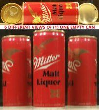 Miller Malt Liquor Beer (16 oz Red Can ) 3 City Version Milwaukee Wisconsin A500