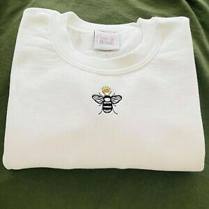 Embroidered Cute Mini Queen Bee Sweatshirt