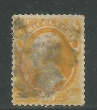 United States 1873 30c yellow Official (O9) used