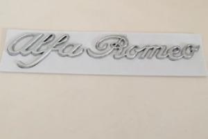 1pc Alfa Romeo Silver Letters Boot Trunk Side Fender Badge Emblem Sticker Logo