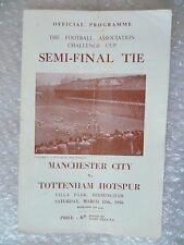 1956 Manchester City v Tottenham Hotspur, 17th March (FA Cup semi FINAL)