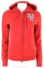 HOLLISTER Womens Hoodie Sweater Size 14 Large Red Cotton  KV01
