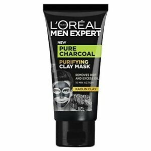 L'Oréal Men Expert Pure Charcoal Purifying Black Clay Face Mask for Men 50ml