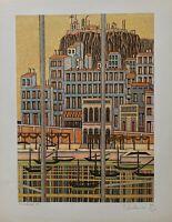 Charbonnier Pierre lithographie originale signée architecture cinéma costumes