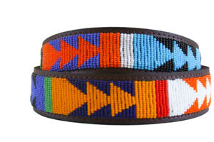 African Leather belt, Beaded belt, Handmade belt, Maasai beaded leather belt