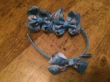 OLAF FROZEN WRAPPED HEADBAND AND BOW PLUS TWO MATCHING 3 INCH BOWS NICE PRESENT
