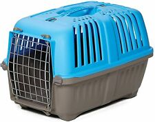 Pet Carrier Hard-Sided Dog Carrier Cat Carrier Small Animal Carrier in Blue