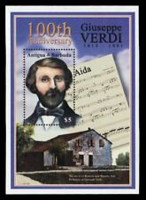 "ANTIGUA 2488 - Giuseppe Verdi ""Composer"" Death Centenary S/S (pa51254)"
