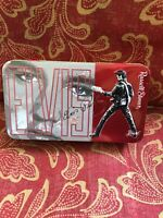 """""""Elvis Presley"""" Awesome Russell Stover Small Square Candy Tin Collectible"""