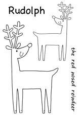 Woodware Clear Magic Singles Stamp - Cheeky Reindeer JGS539