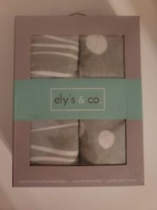 Changing Pad Cover Set | Cradle Sheet 2 Pack 100% Jersey Cotton Grey Abstract...