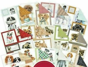 "12 Sheets Hunkydory Picture Perfect Pad - It's a Dogs Life 8"" x 8"" Paper Pad NEW"