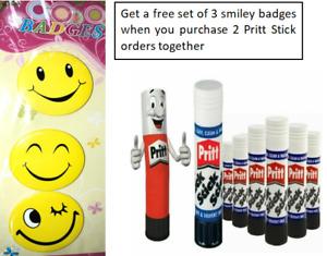4xGenuine PRITT STICK Glue Stick Washable NonToxic Office School Home PACK+Badge