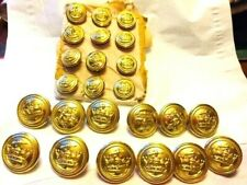 Vintage Brass Uniform Buttons.  British Merchant Navy