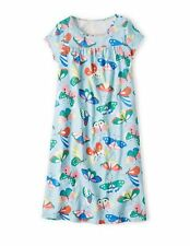 GORGEOUS GIRLS EX MINI BODEN BLUE BUTTERFLY COTTON NIGHTDRESS AGE 2-12 RRP £22