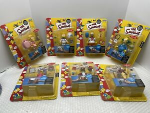 LOT OF 7 NEW SEALED THE SIMPSONS PLAYMATES INTELLI-TRONIC VOICE ACTIVATION