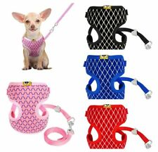 Pet Cat Walk dog Harness & Leash Mesh solfty collar safety strap collar vest
