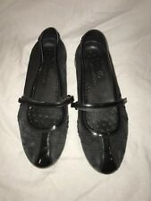 Cole Haan Black Fastening Strap Slip On Flat Mary Jane Shoes Size 5.5B