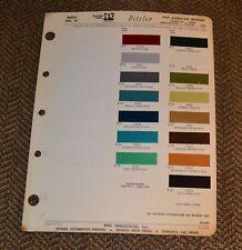VTG 1969 Ditzler Auto Color Paint Chip American Motors Javelin AMX 6914