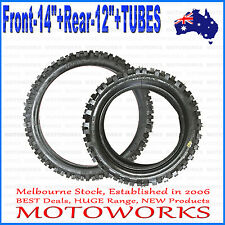 "60/100 - 14"" Front 80/100 - 12"" inch Rear Tyre Tire + TUBE PIT Trail Dirt bike"