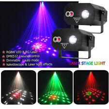 2X Kaleidoskop-Effekt RGBW Laser LED DJ Bühnenlicht DMX512 Party Disco KTV Licht
