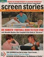 Screen Stories November 1969 Joe Namath Paul Newman Katharine Hepburn 062819DBE