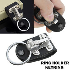 Quick Release Detachable Key Chain Belt Clip Ring Holder Keyring Stainless Steel