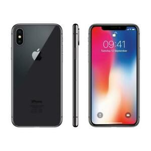 Apple iPhone X 256GB Fully Unlocked (GSM+CDMA) AT&T T-Mobile Verizon Space Gray