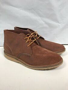 RED WING MENS WEEKENDER CHUKKA RED MAPLE MULESKINNER 3326 SIZE 9 FREE SHIPPING