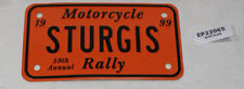 Sturgis Rally 1999 license plate insert Harley motorcycle 59th Annual EP22065