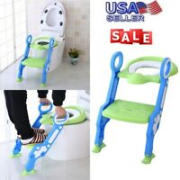 NEW Potty Training SEAT With Step Stool Ladder for Child Toddler Toilet Chair US