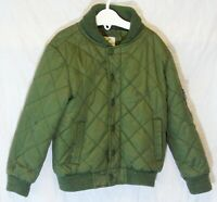 Boys Primark Khaki Green Quilted Lightly Padded Bomber Jacket Coat Age 3-4 Years