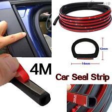 4M 160''D-shape Rubber Weather Seal Hollow Universal Car Door Strip Weatherstrip