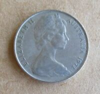 AUSTRALIAN 1972 10 CENT COIN...LOWER MINTAGE YEAR