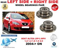 para SEAT ALTEA Trasero Rodamientos De Rueda Par 2004>On 5p1 MPV Left and