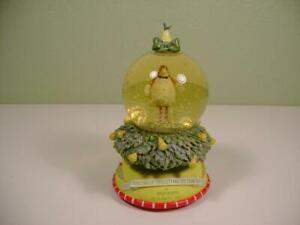 DEPT 56 KRINKLES PATIENCE BREWSTER PARTRIDGE WATERGLOBE MUSIC BOX FIRST DAY