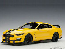 AutoArt 1/18 Ford SHELBY GT-350R Triple YELLOW Black Stripes NEW 72932 MUSTANG