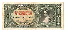 1946 Hungary Hyper Inflation 100.000 milpengo  / 100000000000 pengo