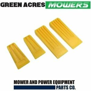 CHAINSAW TREE FELLING AND SPLITTING WEDGES 2 X 5 AND 2 X 8 INCH STRONG PLASTIC 4