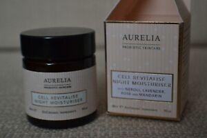 BNIB Aurelia Probiotic Skincare Cell Revitalise Night Moisturiser travel 30ml