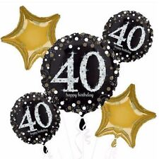 Sparkling Celebration 40th Birthday Balloon Bouquet Party Supplies Fortieth 40